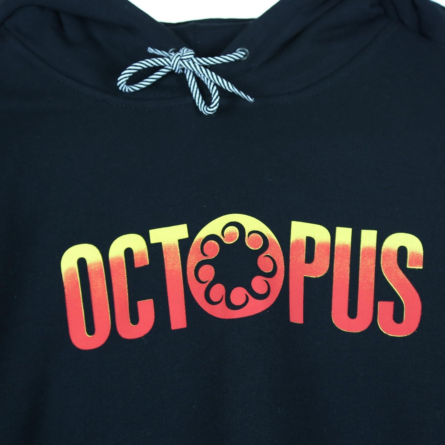 OCTOPUS felpa Gradient Hoodie Orange Yellow Black