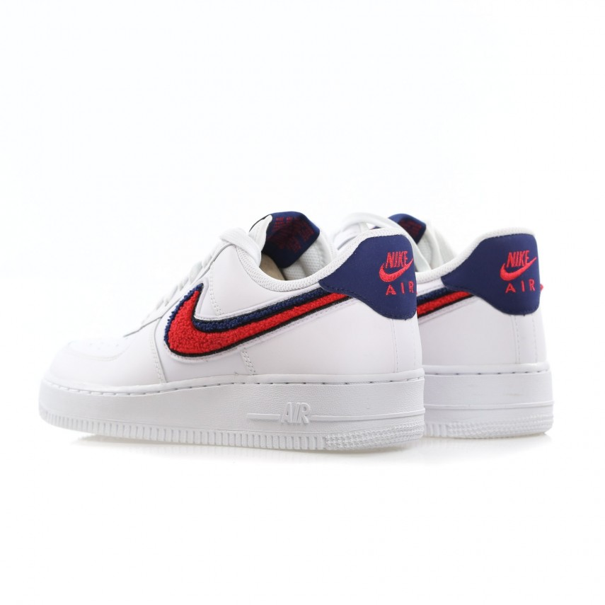 nike air force 1 07 herren white red