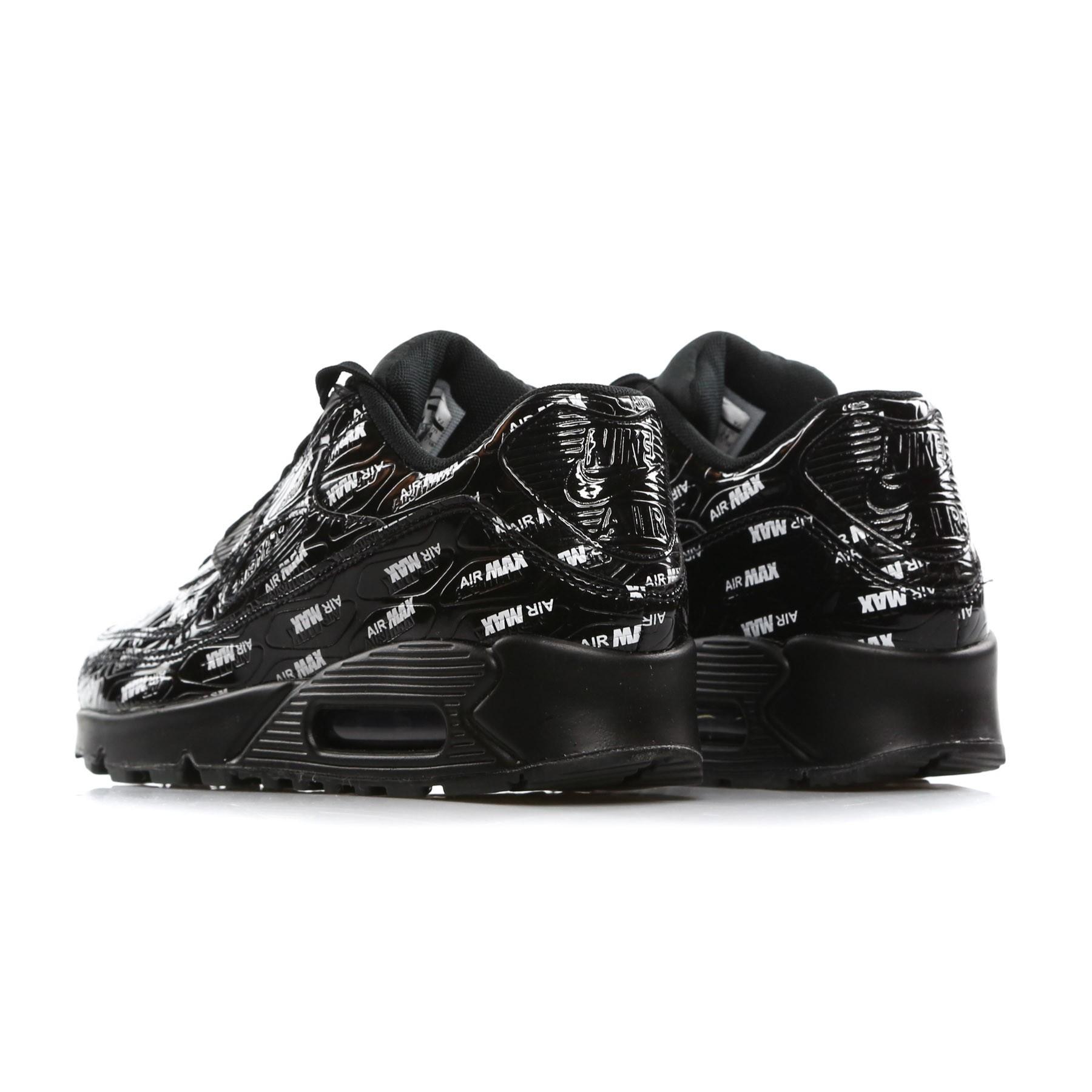 Mens Nike Air Max 90 Premium BlackBlackWhite 700155 008 Various UK Sizes