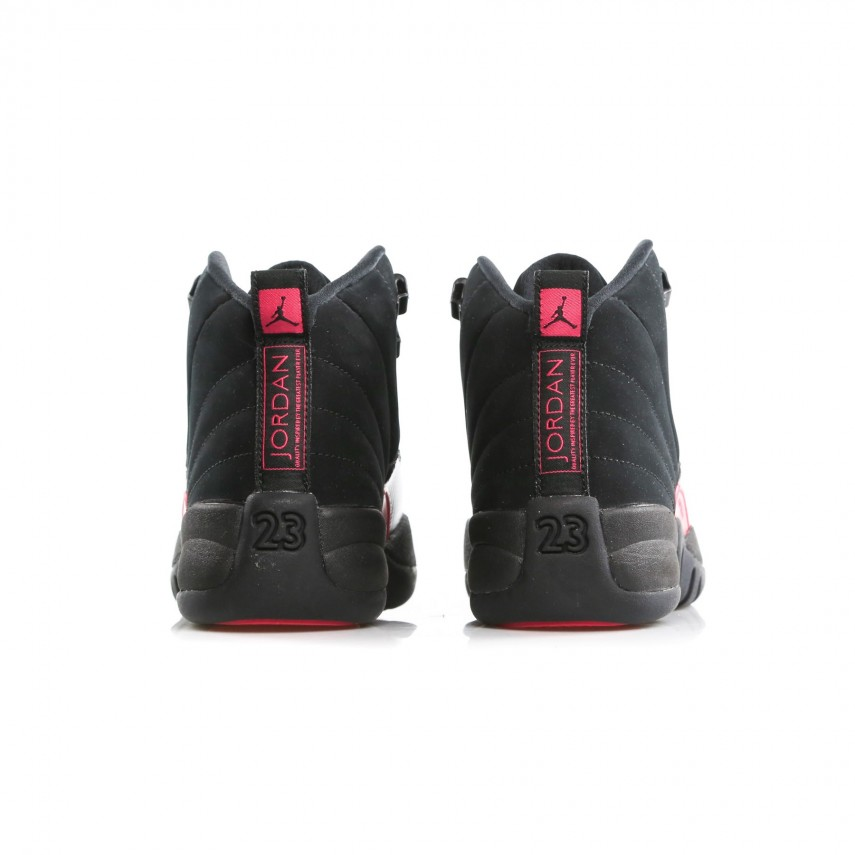 competitive price 75de2 8bbf2 SCARPA ALTA W AIR JORDAN 12 RETRO GS BLACK/DARK GREY/RUSH PINK