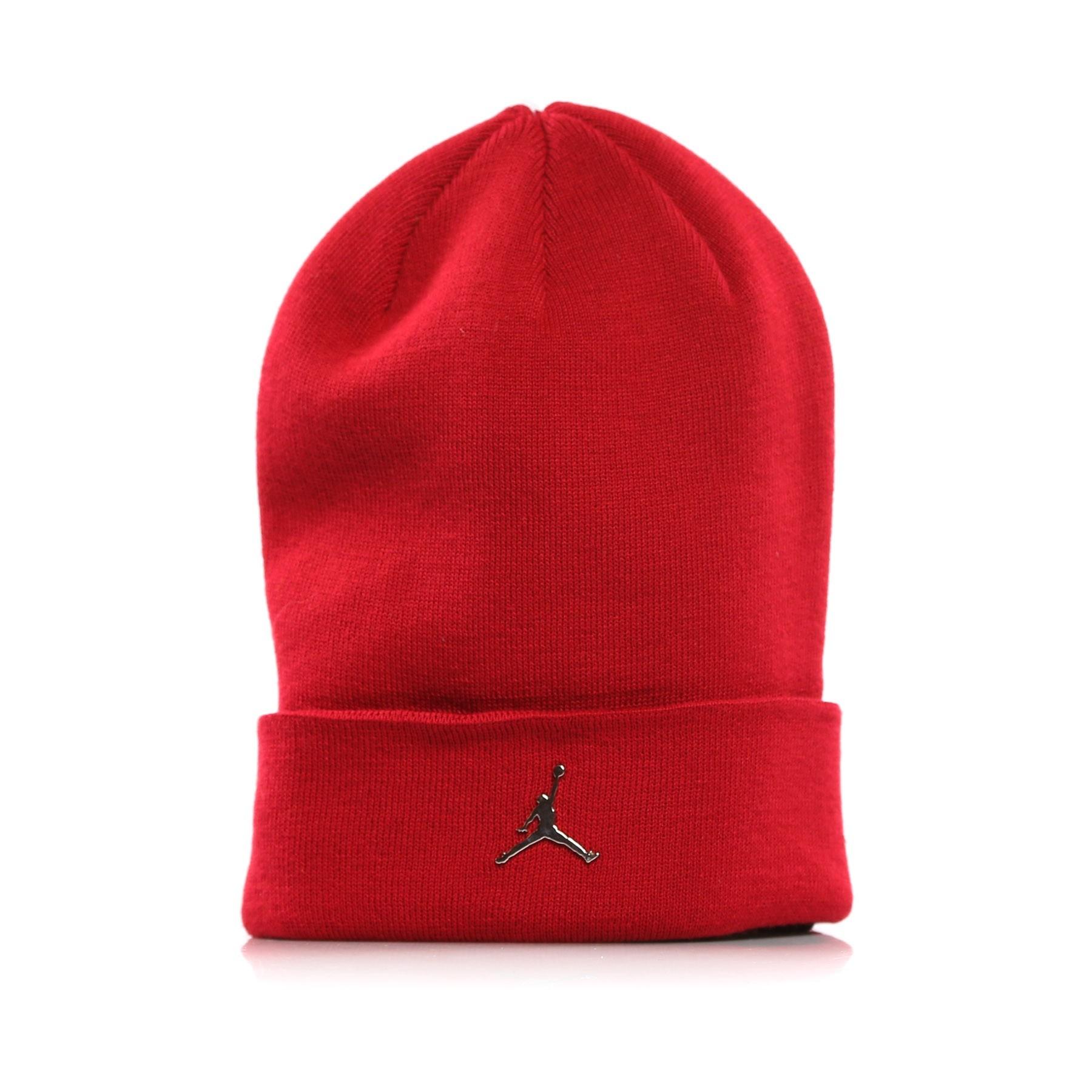392b8815 ... reduced berretto lana jordan beanie cuffed gym red atipicishop b67dc  0dc0a