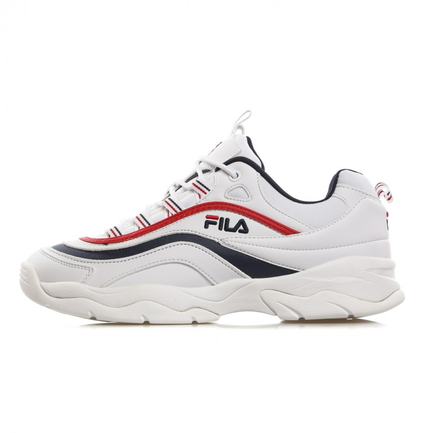 SCARPA BASSA RAY LOW WHITE/FILA NAVY/FILA RED | Atipicishop.com