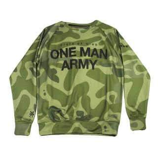 FELPA GIROCOLLO ONE MAN ARMY SWEATSHIRT