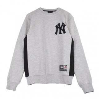FELPA GIROCOLLO BULBA CHENILLE CHEST LOGO CREW SWEAT NEWYAN