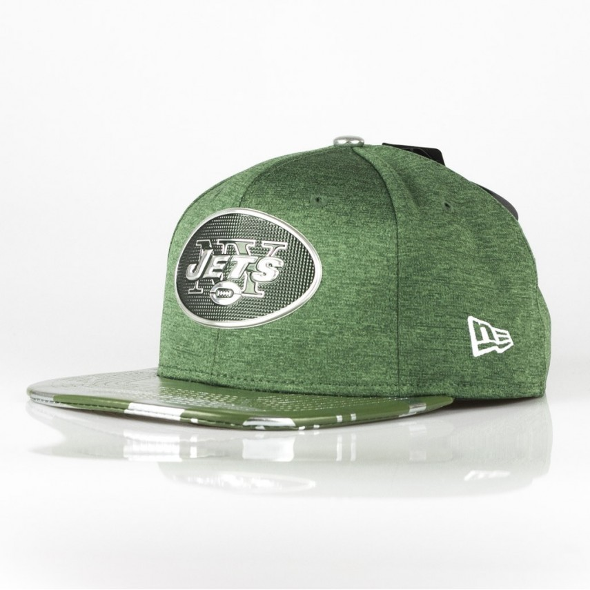 CAPPELLO SNAPBACK NFL17 ON STAGE 950 OFFICIAL NEYJET VERDE CACCIATORE BIANCO   f3e9c75a0750