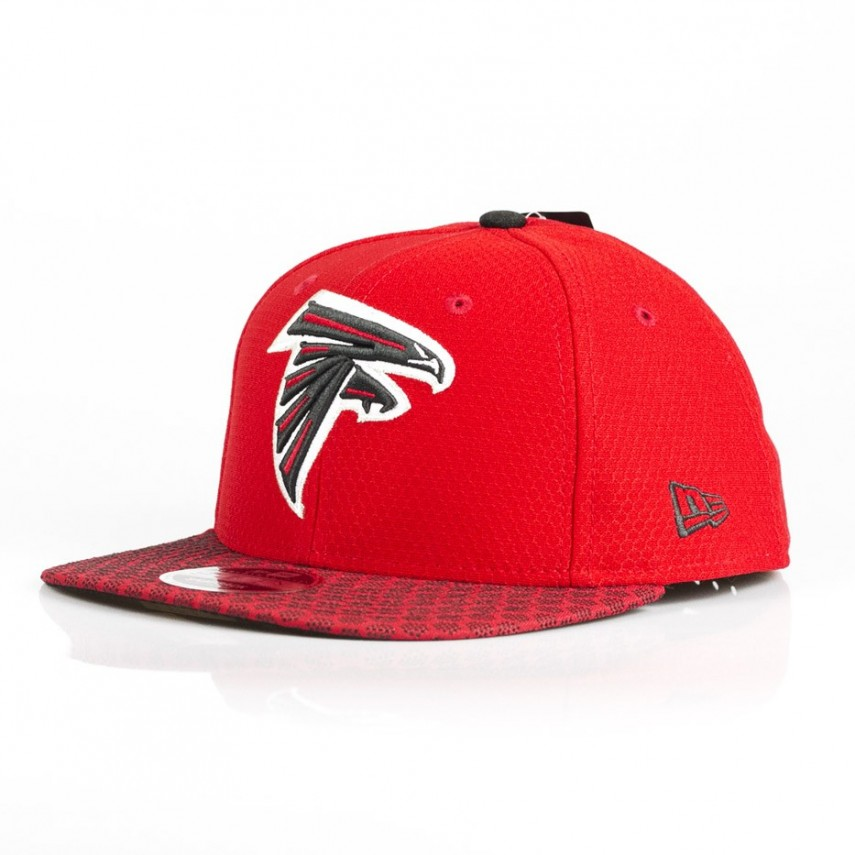 649ca871dd0 CAPPELLO SNAPBACK NFL 17 ONF SIDELINE 950 ATLFAL ROSSO NERO ...