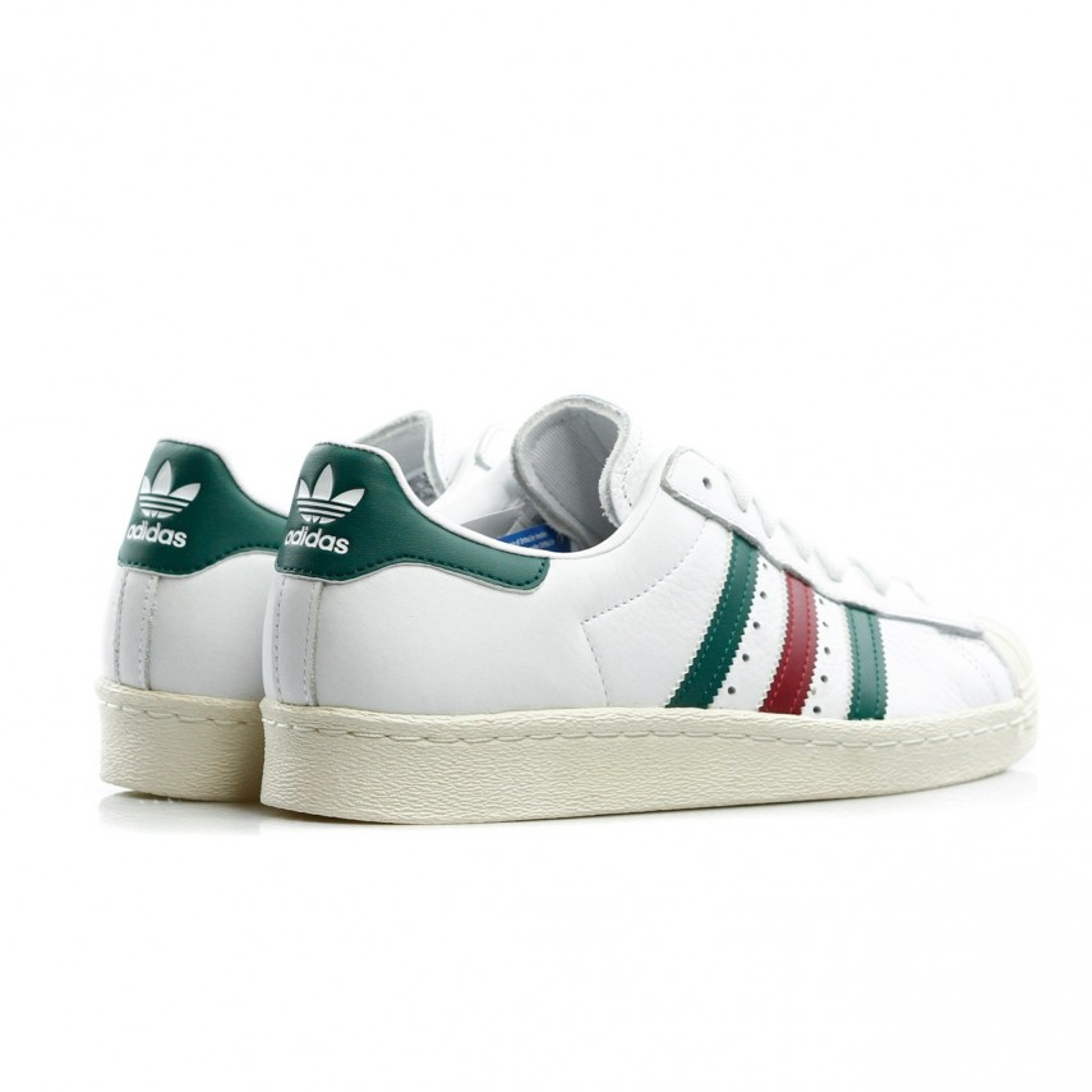 Adidas Superstar 80s Trainers WhiteGreenRuby