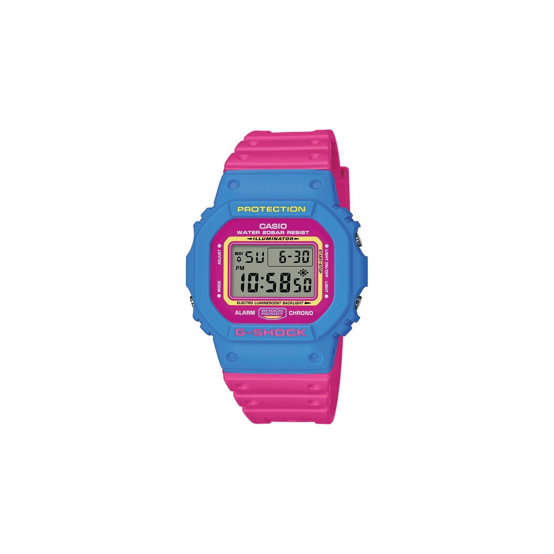 db06f24f0606ff OROLOGIO G-SHOCK DW-5600TB-4BER BLUE/PINK | Atipicishop.com