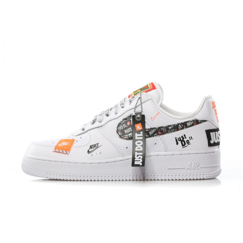 new arrive a90fc 0a054 SCARPA BASSA AIR FORCE 1 07 PRM JDI WHITE/WHITE/BLACK/TOTAL ORANGE