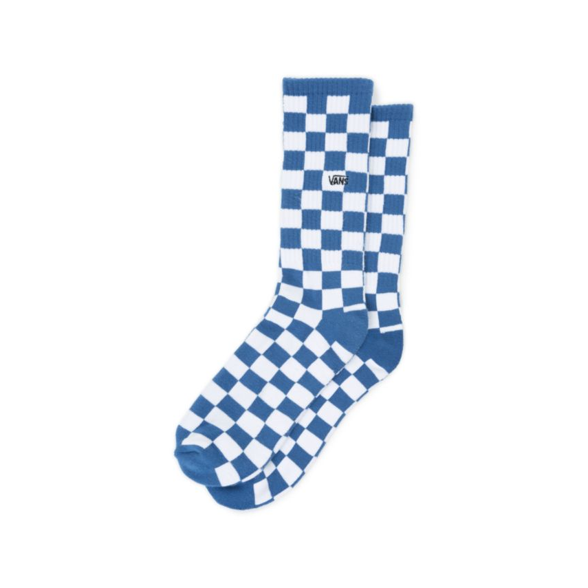 d30572d1aca240 CALZE CHECKERBOARD CREW TRUE BLUE WHITE