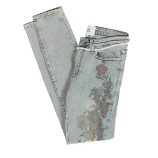 JEANS PRINTED FLOREAL Array