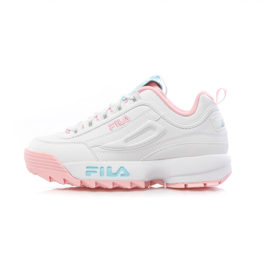 SCARPA BASSA DISRUPTOR LOW THE CANDY SHOP WHITEPINKBABY BLUE |