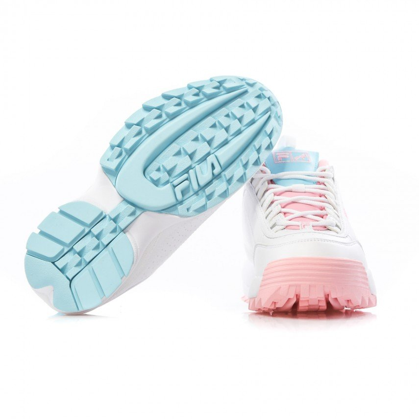 SCARPA BASSA DISRUPTOR LOW THE CANDY SHOP WHITE/PINK/BABY BLUE