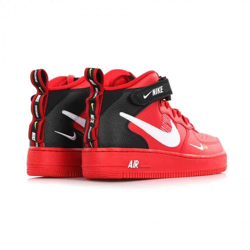 sports shoes 59d62 77a7c HIGH SHOE AF1 MID 07 LV8 UNIVERSITY RED/WHITE/BLACK/TOUR YELLOW