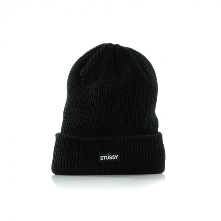 2759f923a7b BERRETTO LANA SMALL PATCH WATCHCAP BEANIE BLACK