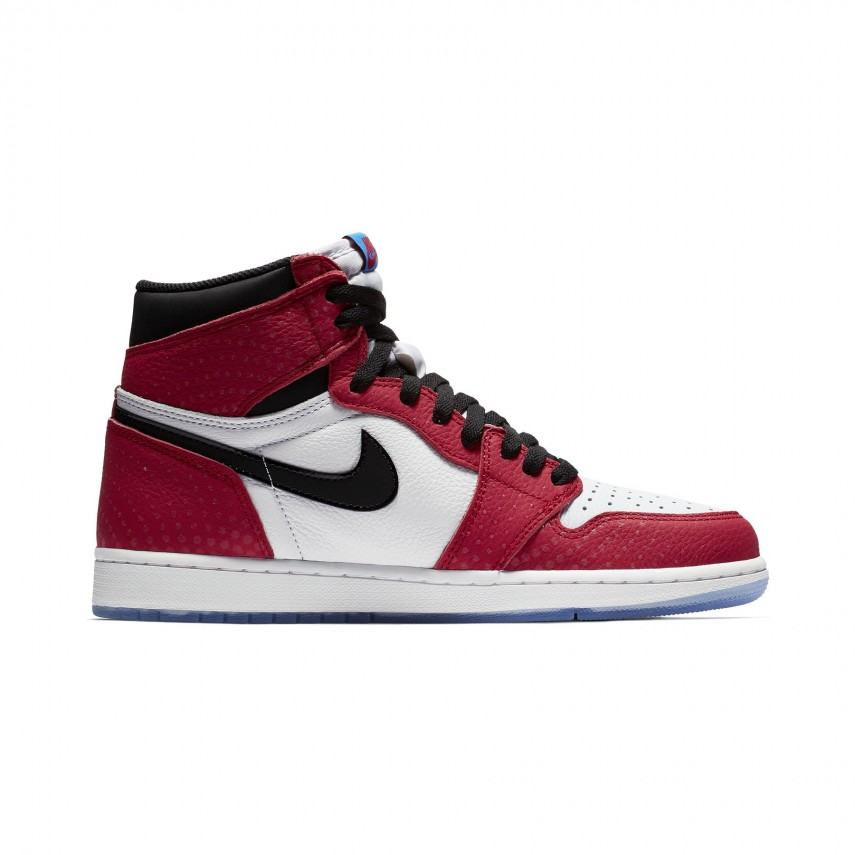 new product 2a658 8473a HIGH SHOE AIR JORDAN 1 HIGH OG RETRO ORIGIN STORY GYM RED/BLACK/WHITE/PHOTO  BLUE