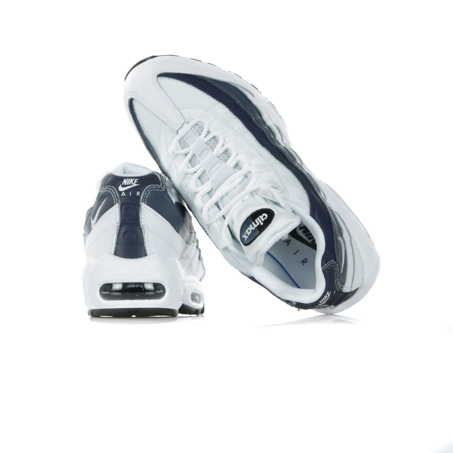 SCARPA BASSA AIR MAX 95 ESSENTIAL WHITE WHITE MIDNIGHT NAVY MONSOON BLUE 06e801d52