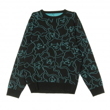 MAGLIONE NERM LINE KNIT SWEATER