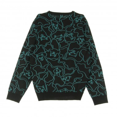 MAGLIONE NERM LINE KNIT SWEATER S