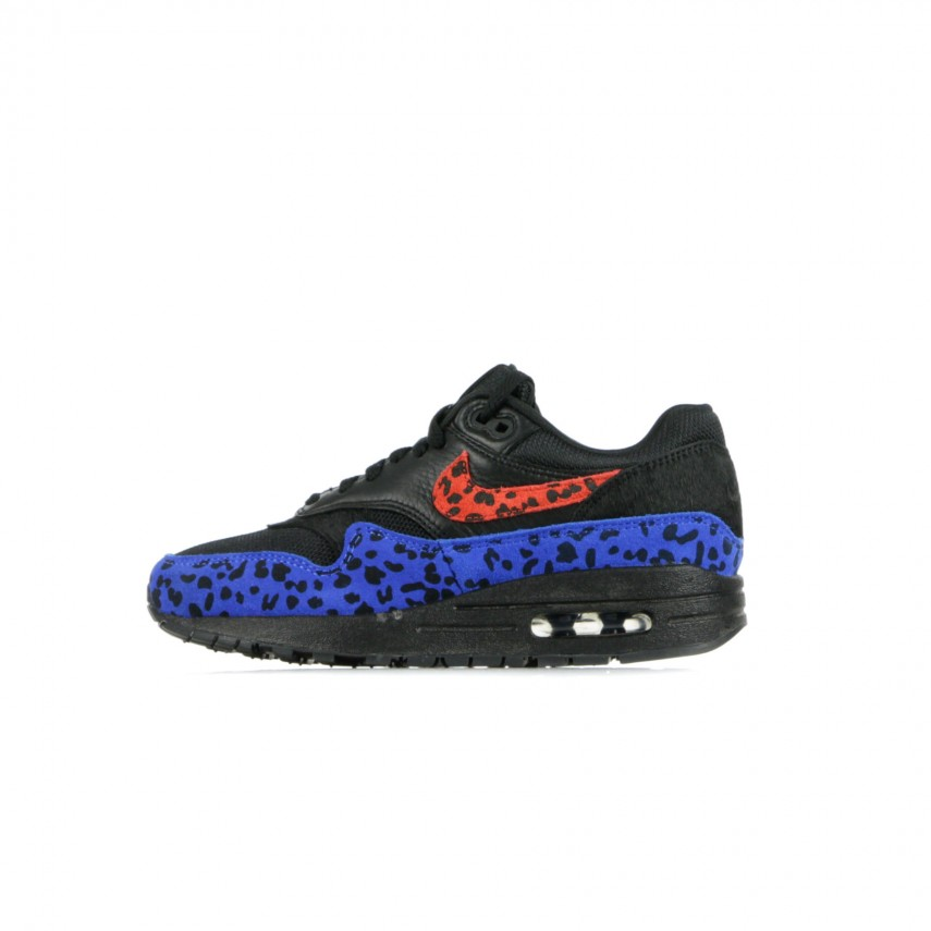 SCARPA BASSA W AIR MAX 1 PRM ANIMAL BLACKHABANERO REDRACER BLUE |
