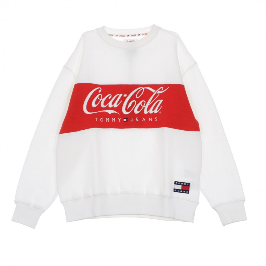 FELPA GIROCOLLO TOMMY X COCA COLA SWEAT BRIGHT WHITE |