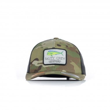 new concept cd145 8378a New White Salty Crew Mahi Mount Retro Trucker Hat Black