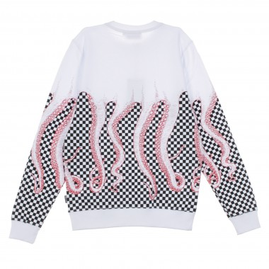 FELPA GIROCOLLO CHECKERED CREWNECK L