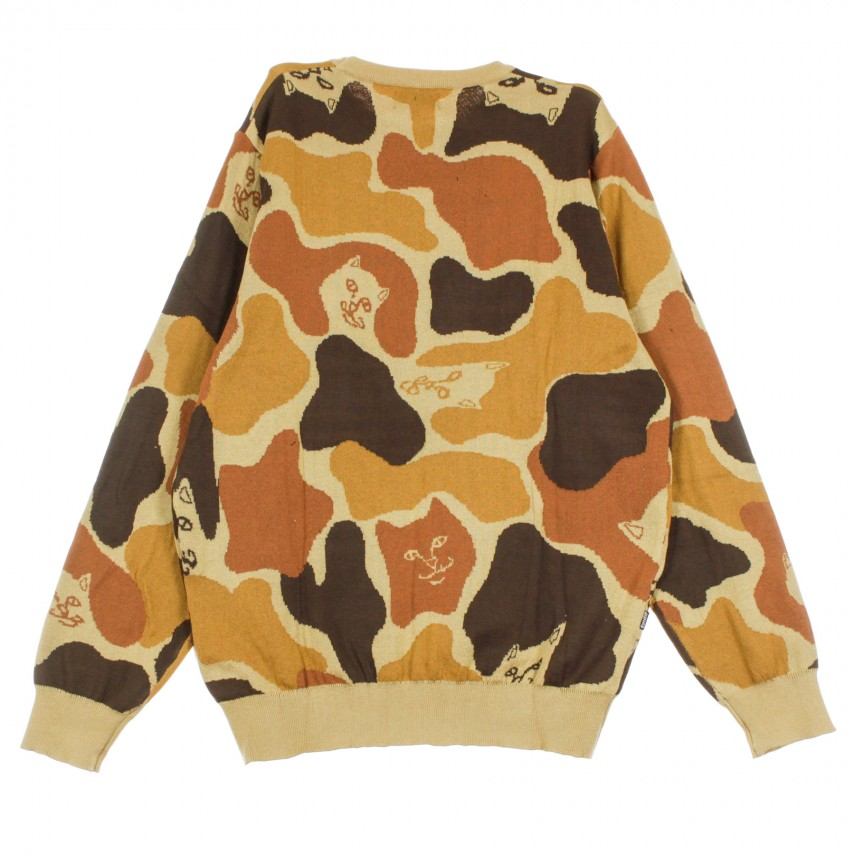 MAGLIONE NERM CAMO KNITTED SWEATER