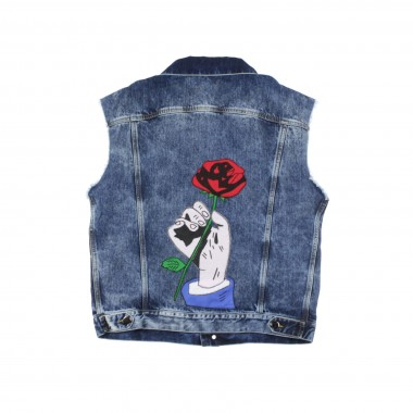 GIUBBOTTO JEANS ROMANTIQUE SLEEVELESS