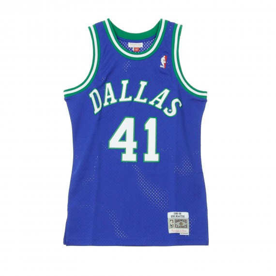 CANOTTA NBA SWINGMAN JERSEY DIRK NOWITZKI NO41 1998 99 DALMAV ROAD ORIGINAL TEAM COLORS |