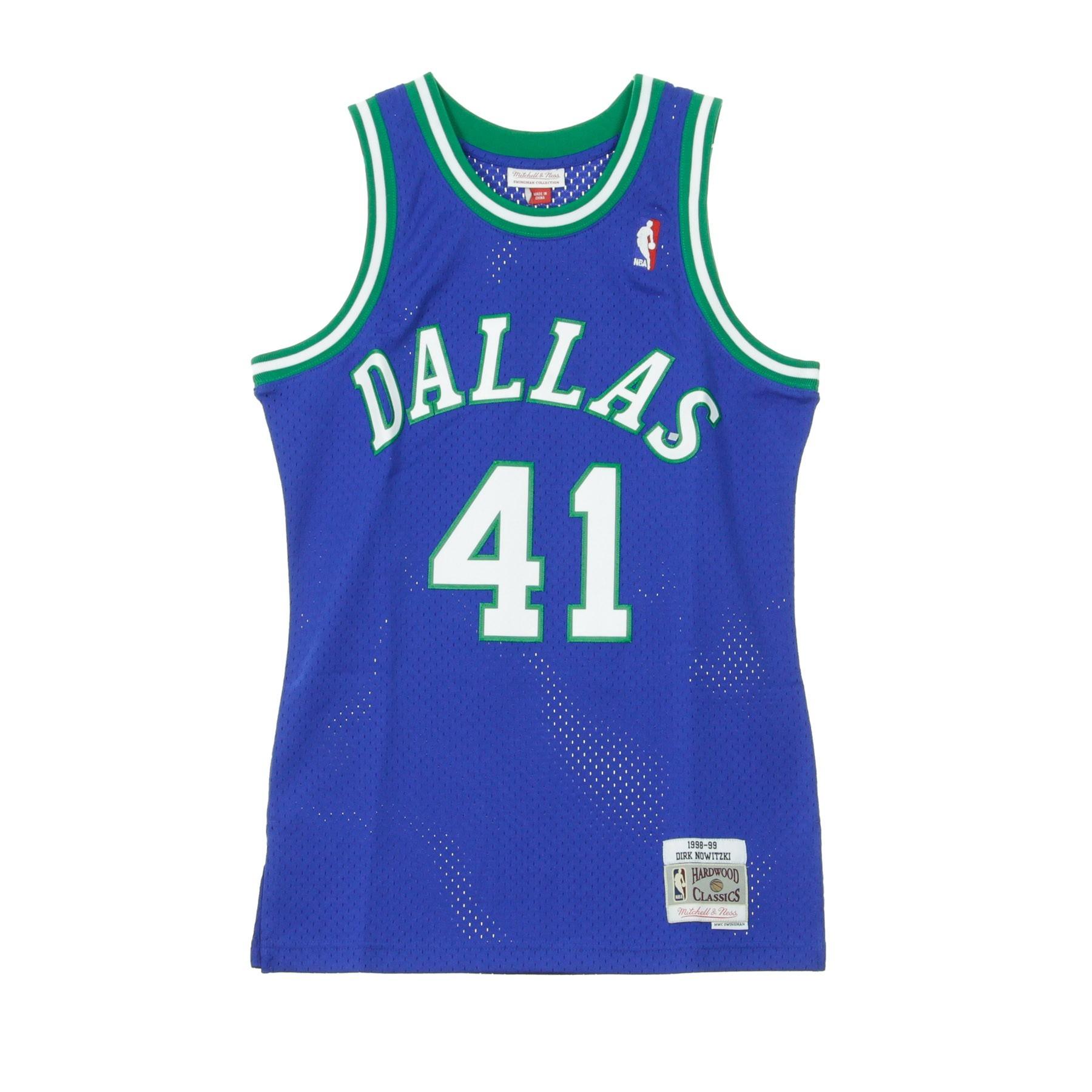 finest selection 09e33 55b6a CANOTTA NBA SWINGMAN JERSEY DIRK NOWITZKI NO41 1998-99 DALMAV ROAD ORIGINAL  TEAM COLORS | Atipicishop.com