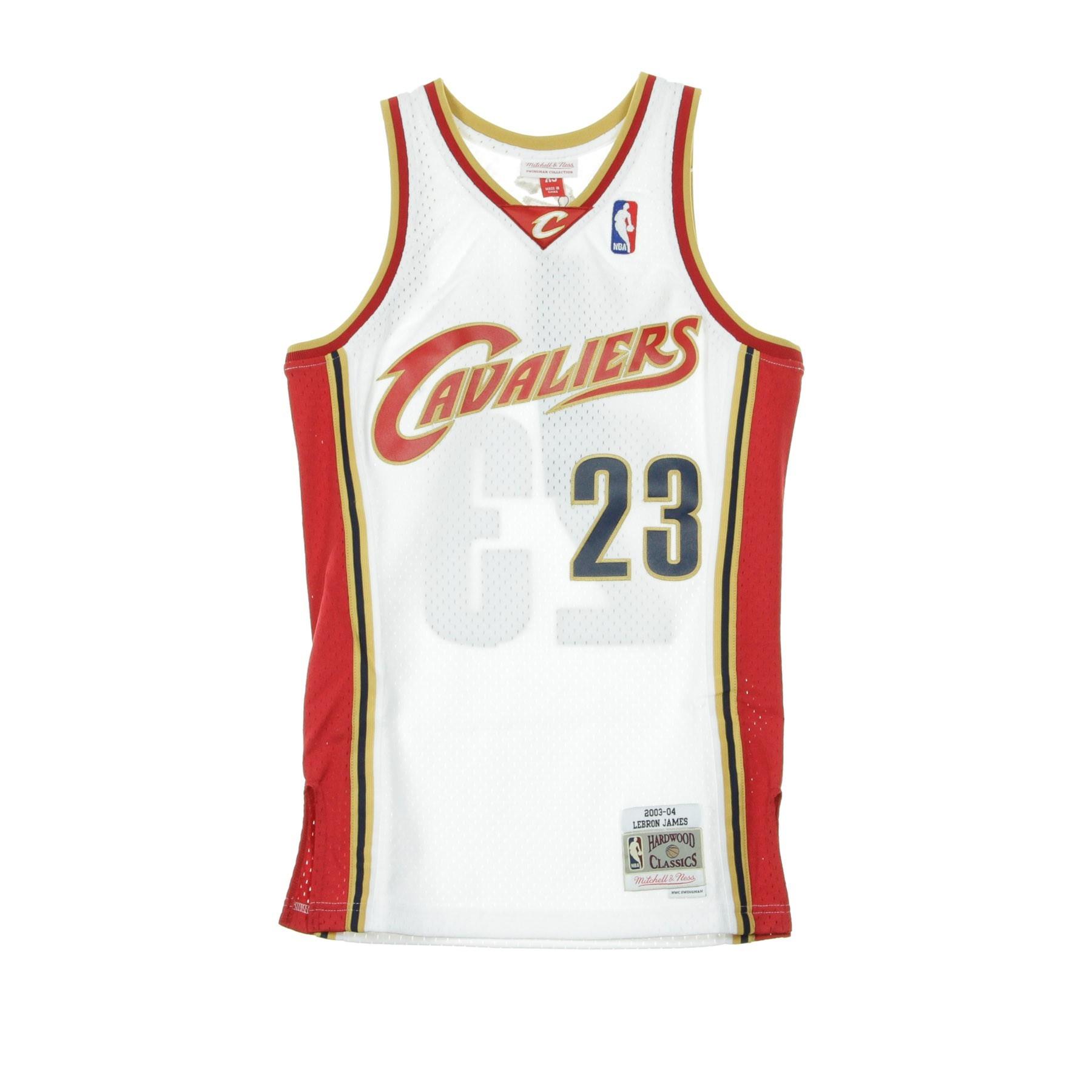 quality design a2fc5 c3bdb CANOTTA NBA SWINGMAN JERSEY LEBRON JAMES NO23 2003-04 CLECAV HOME ORIGINAL  TEAM COLORS | Atipicishop.com