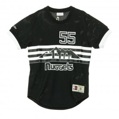 CASACCA BLACK  WHITE MESH NAME  NUMBER CREWNECK DICKEMBE MUTOMBO NO55 DENNUG S