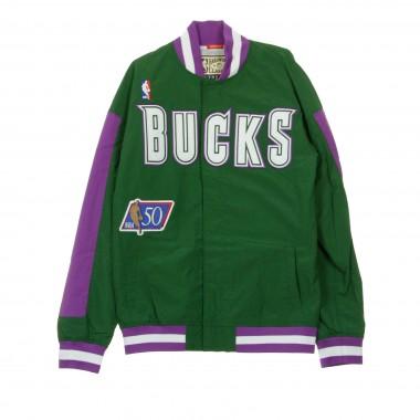 GIUBBOTTO GIACCA A VENTO NBA AUTHENTIC WARM UP JACKETS 1996-97 MILBUC S