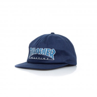 FLAT BILL CAP SNAPBACK OUTLINED SNAPBACK