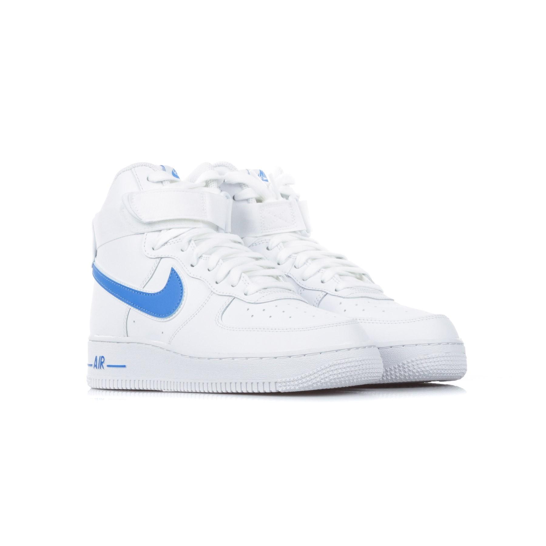 scarpa alta uomo air force 1 high '07 3 WHITE/WHITE/PHOTO BLUE