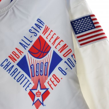 GIUBBOTTO GIACCA A VENTO ALL STAR WARM UP JACKET ALL STAR GAME EAST 1991 42.5