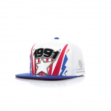 FLAT BILL CAP SNAPBACK ALL STAR GAME 1991 91 TICKET BURST SNAPBACK