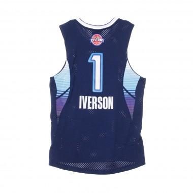 CANOTTA BASKET NBA SWINGMAN JERSEY ALLEN IVERSON NO1 ALL STAR GAME EAST 2009 42.5