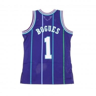 CANOTTA BASKET NBA SWINGMAN JERSEY MUGGSY BOGUES NO1 1994-95 CHAHOR ALTERNATE 42.5