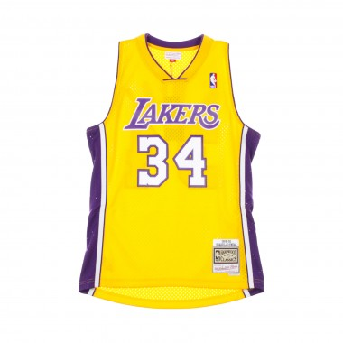 CANOTTA BASKET NBA SWINGMAN JERSEY SHAQUILLE ONEAL NO34 1999-00 LOSLAK HOME 42.5