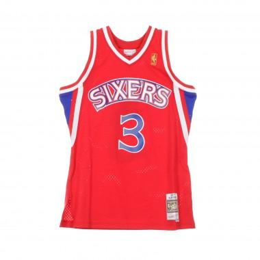 CANOTTA BASKET NBA SWINGMAN JERSEY ALLEN IVERSON NO3 1996-97 PHI76E ROAD 42.5