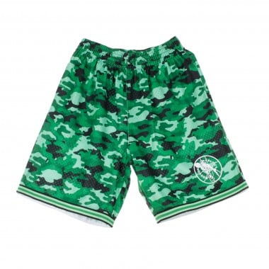 PANTALONCINO TIPO BASKET NBA CAMO MESH TEAM COLOUR SHORT BOSCEL