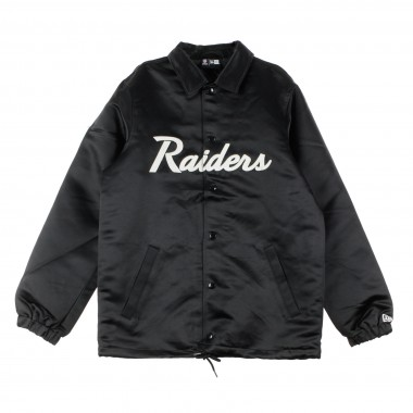 GIACCA COACH JACKET NFL RAIDERS SATIN COACHES JACKET OAKRAI