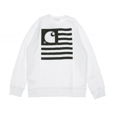 SWEATSHIRT GIROCOLLO STATE PATCH SWEATSHIRT