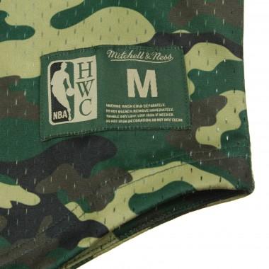 JERSEY BASKET NBA CAMO MESH V-NECK TEE PHI76E