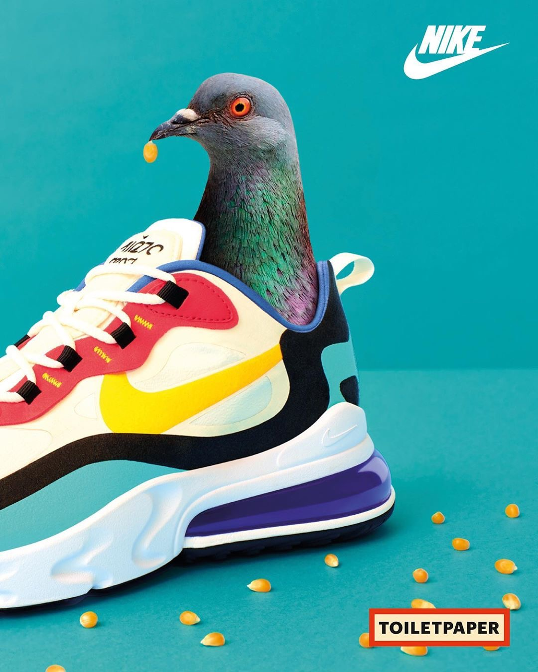 NIKE AIR MAX 270 REACT  BY TOILETPAPER