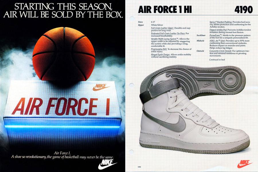 Primo modello di Nike Air Force One del 1982