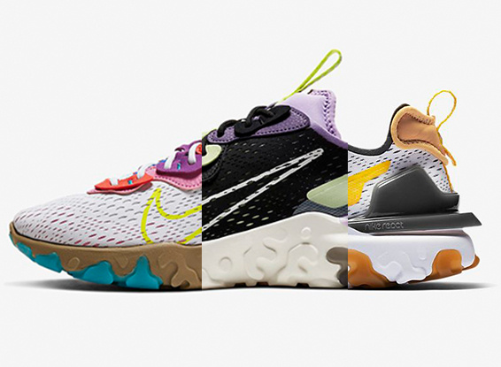 Nike React Vision : tre colorway imperdibili
